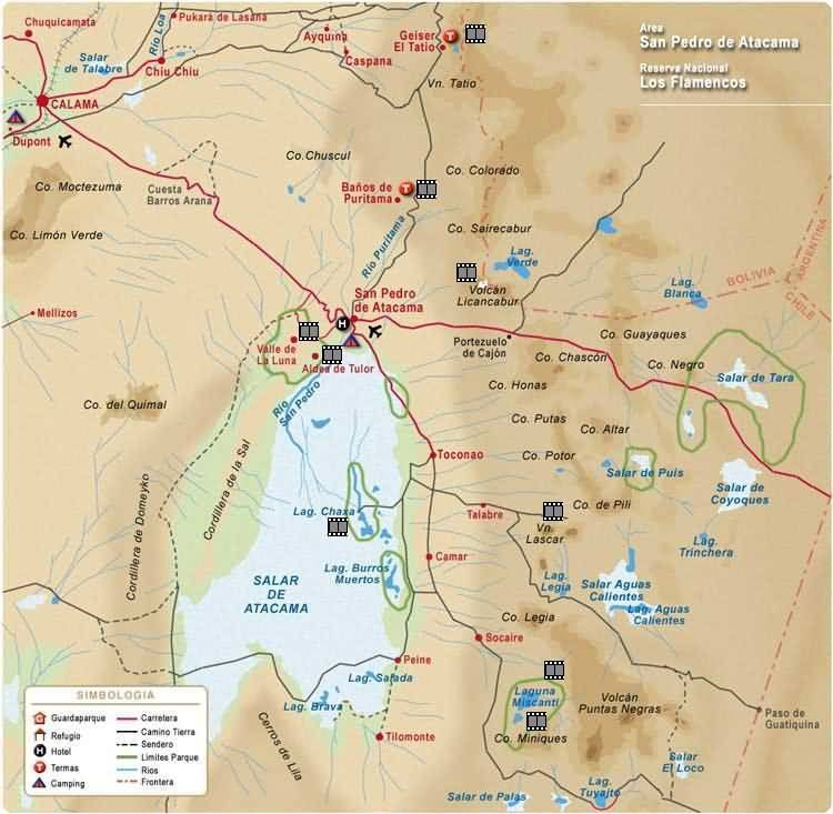 San Pedro de Atacama – Chile Tourist Attractions Map